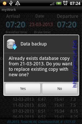 Backup baze