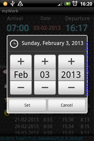 Izbor datuma dolaska