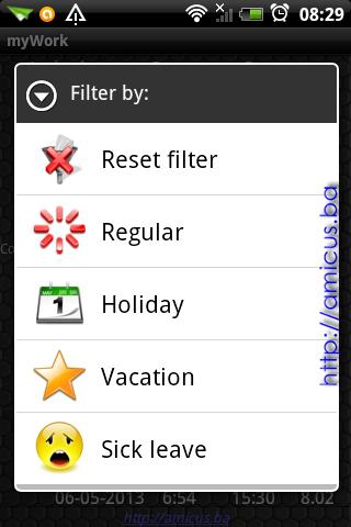 Izbor filtera prikaza podataka