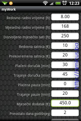 Konfiguracija aplikacije
