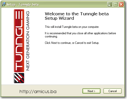 Tunngle Instalacija - prvi korak