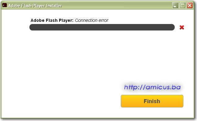 Flash install error 2